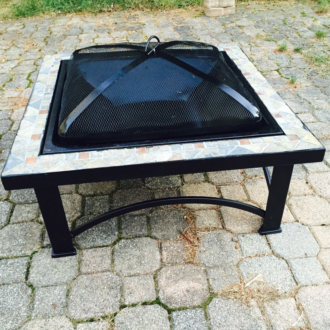 A Rusted 5 Yr Old Fire Pit From Aldi With A New Tray And High Heat Paint High Heat Paint Outdoor Tables Outdoor Decor