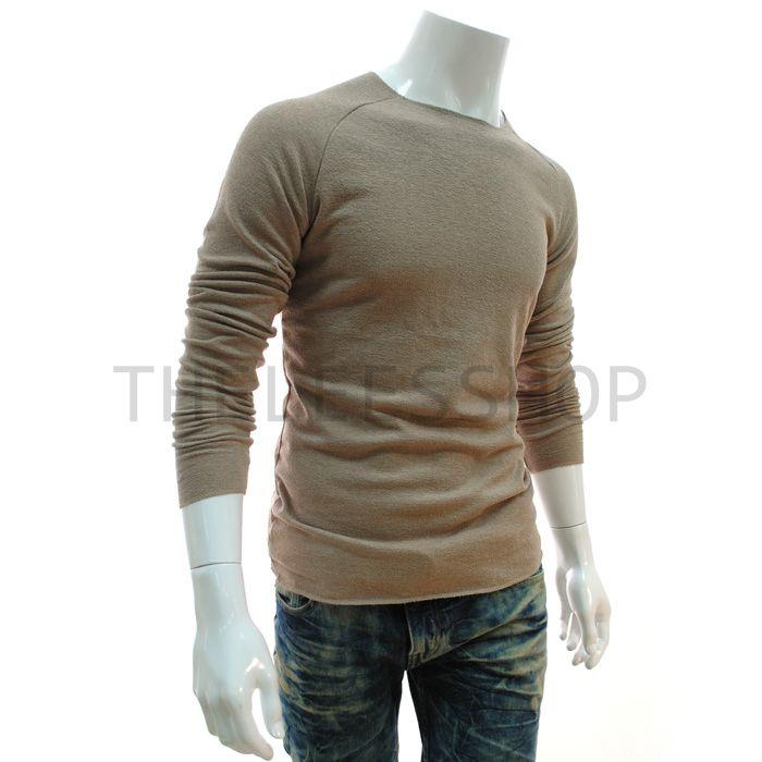 Long sleeve T Shirt Mens Cotton ROUGH DRESS Tshirt