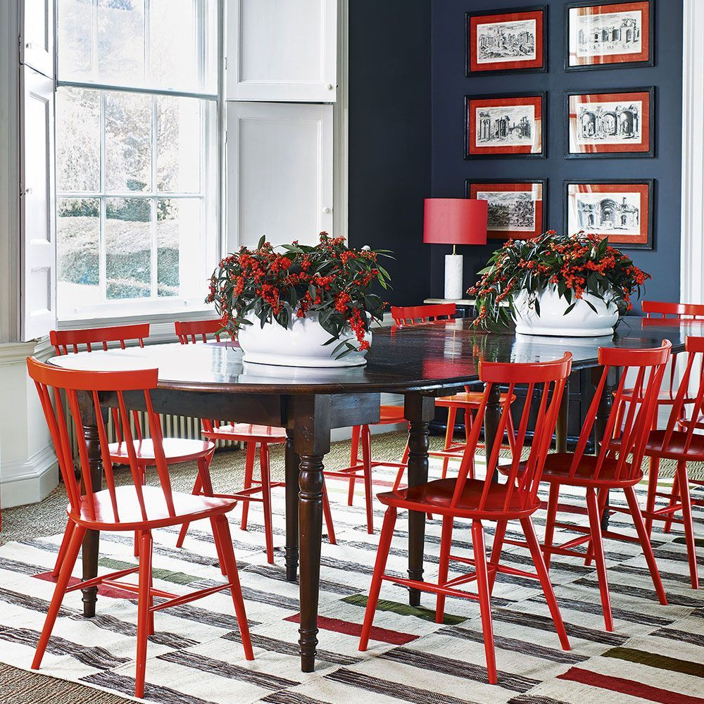 Grey Wall Accents Enjoy Dramatic Design At Home By Decorating With Darker Colours Greywall Accents Red Kitchen Decor Red Home Decor Dining