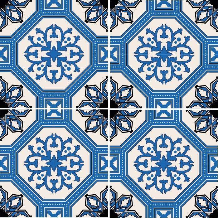 Blå blomster Marockanskt