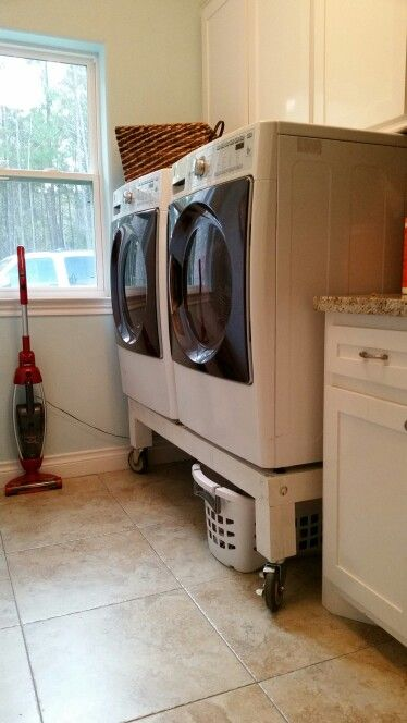 Washing Machine Stand With Locking Castor Wheels Place Sorted