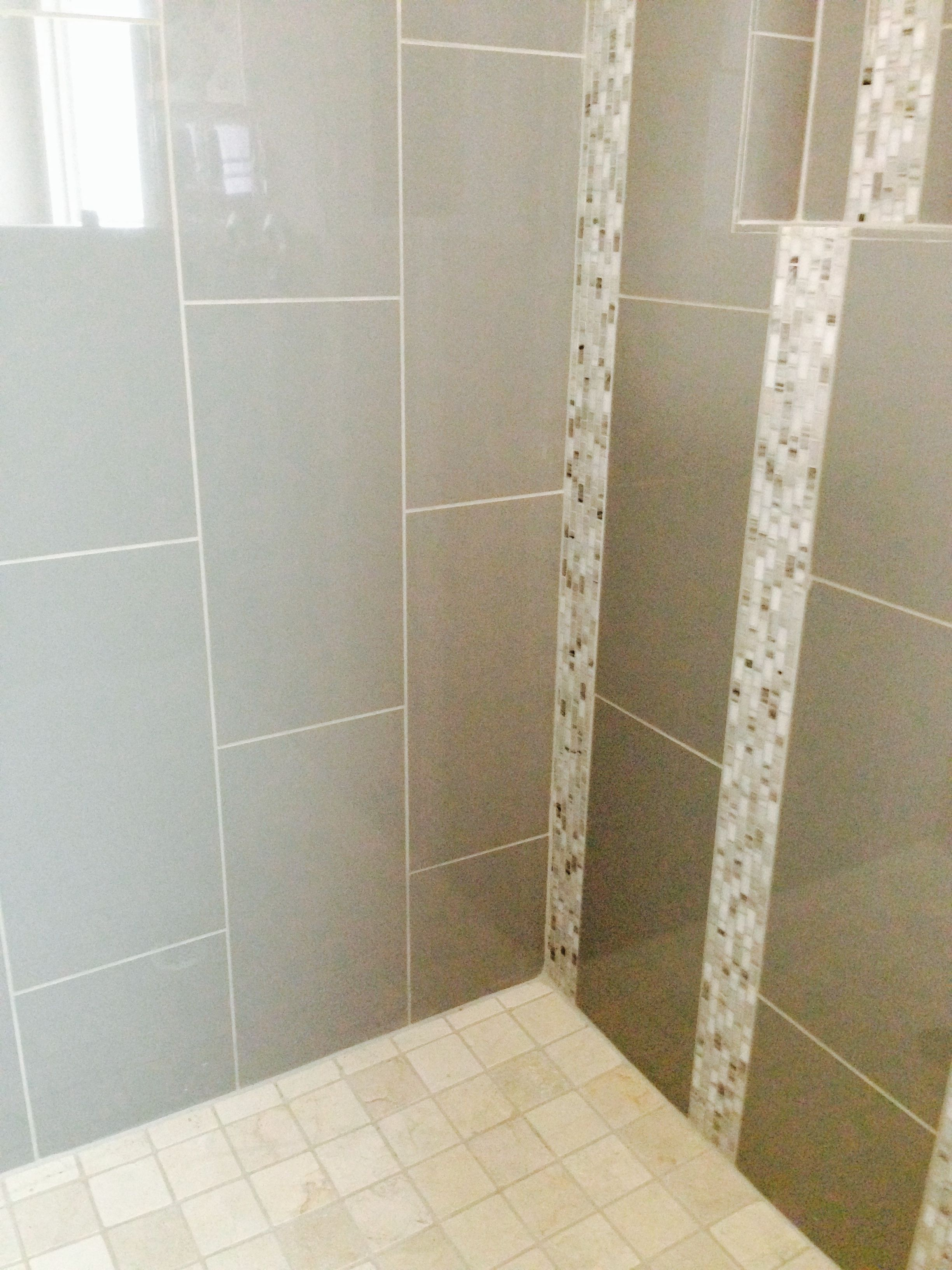 12x24 High Gloss Porcelain Tile With Decorative Mosaic