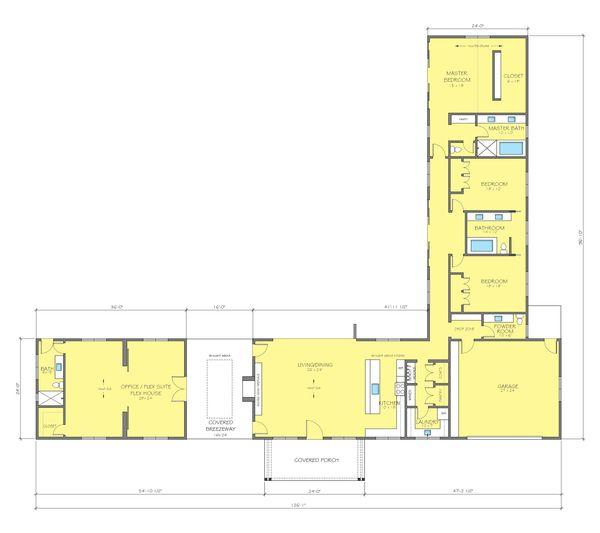 Ranch Style House Plan 3 Beds 3 5 Baths 3776 Sq Ft Plan 888 17 L Shaped House Plans Ranch House Plans House Plans
