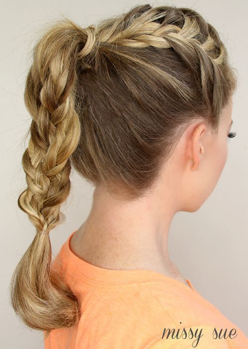 Braided Ponytail Ideas 40 Cute Ponytails With Braids Braided Ponytail French Braid Ponytail Braided Hairstyles