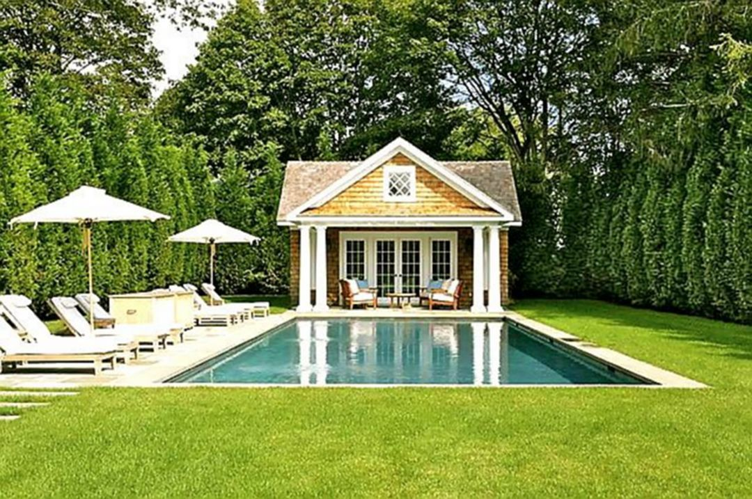 20 Minimalist Home Design With Pool Ideas On A Budget Pool Houses Small Pool Houses Pool House