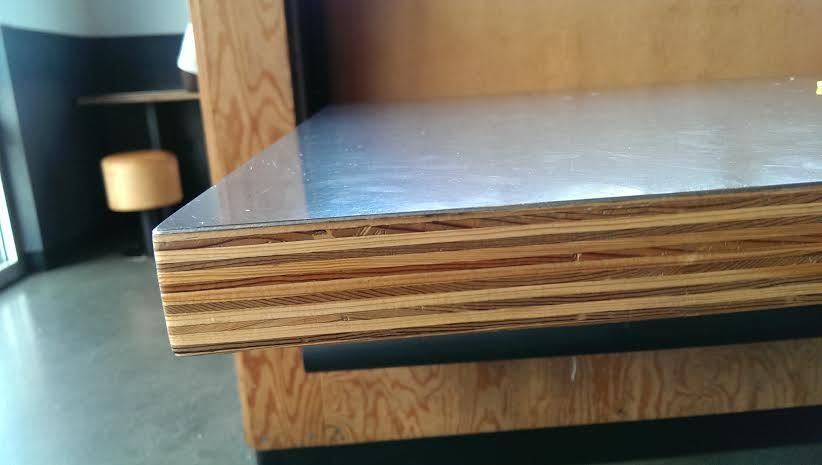 Bonding Sheet Metal To Baltic Birch Woodweb S Adhesives Forum Plywood Countertop Metal Furniture Design Metal Furniture