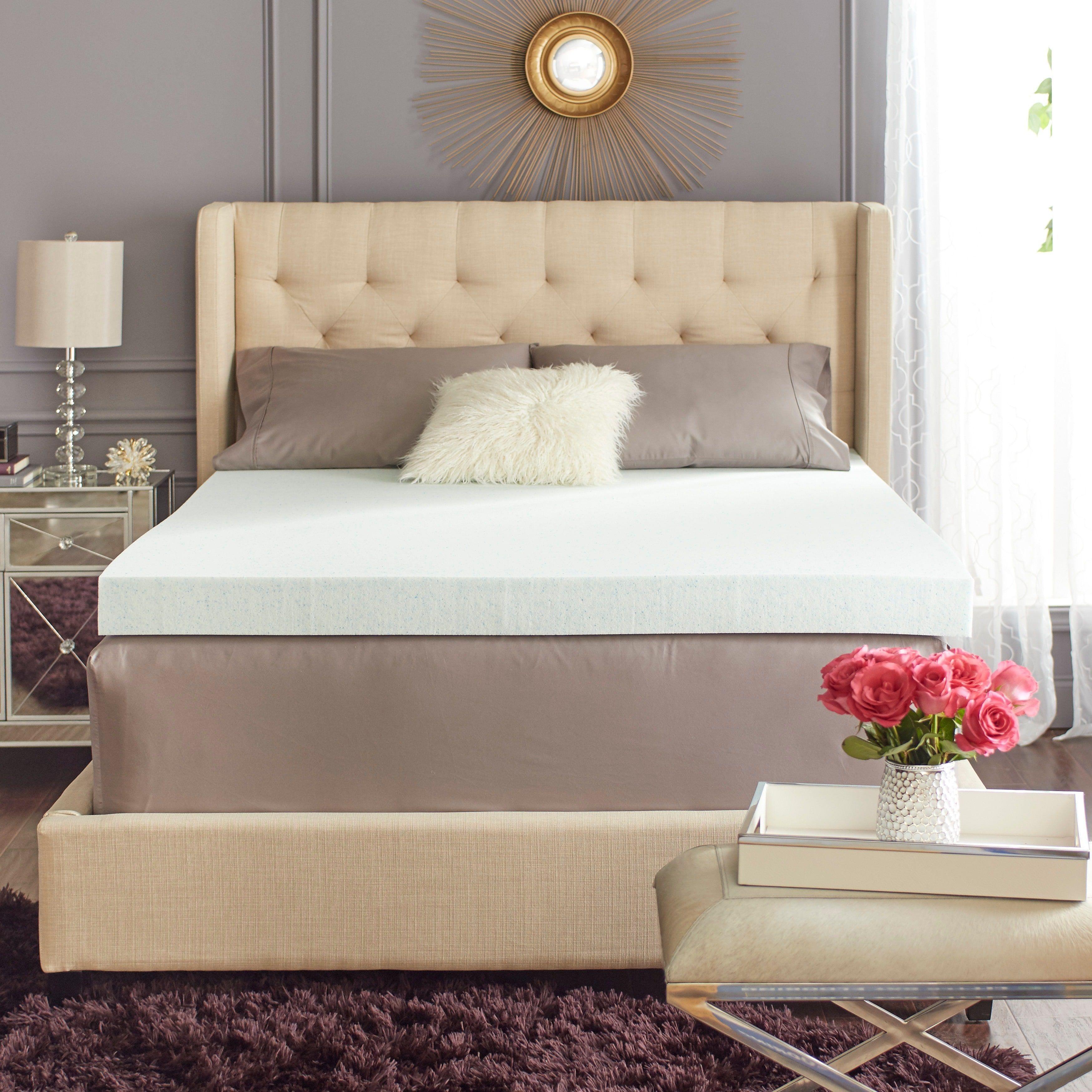 image product uts scl foam memory va click gel full hover topper mattress blended nnpvf over zoom for fingerhut to