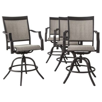 Threshold™ Harriet 4-Piece Sling Patio Balcony Height Chair Set - Threshold™ Harriet 4-Piece Sling Patio Balcony Height Chair Set