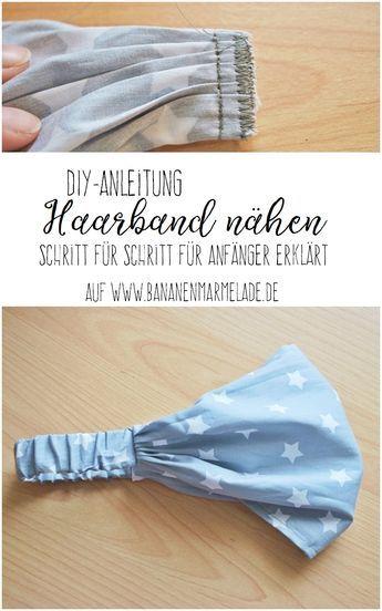 DIY-Näh-Anleitung: Kopftuch/Haarband | nähen | Pinterest | Nähen ...