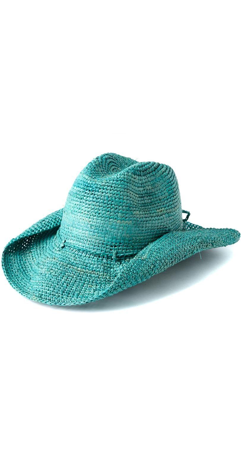 Mar Y Sol Rose Aqua Cowboy Hat #MarY #Aqua #Rose #Cowboy #Hat ...