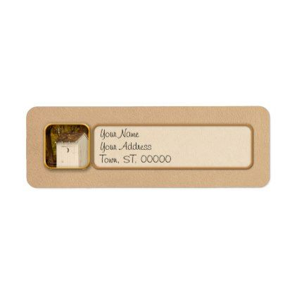 rural outhouse when nature calls label return address labels