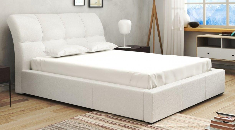 Portland Bett 140x200 Cm Kunstleder Webstoff Weiss In 2020 Bett 140x200 Weiss Bett 140x200 Bett