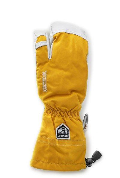 Hestra Hestra Army Leather Heli Ski 3 Finger Gloves Mustard