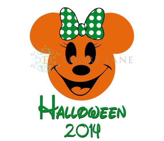 Halloween 2014 Mouse Pumpkin with Bow by EmoryLaneStudios on Etsy, $4.00