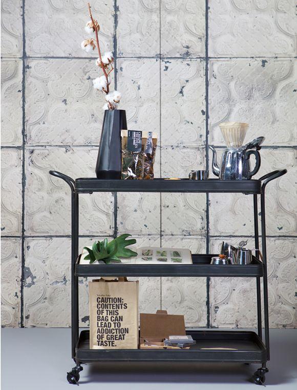 Servierwagen schwarz von de EEKHOORN | car möbel | Furniture | Pinterest