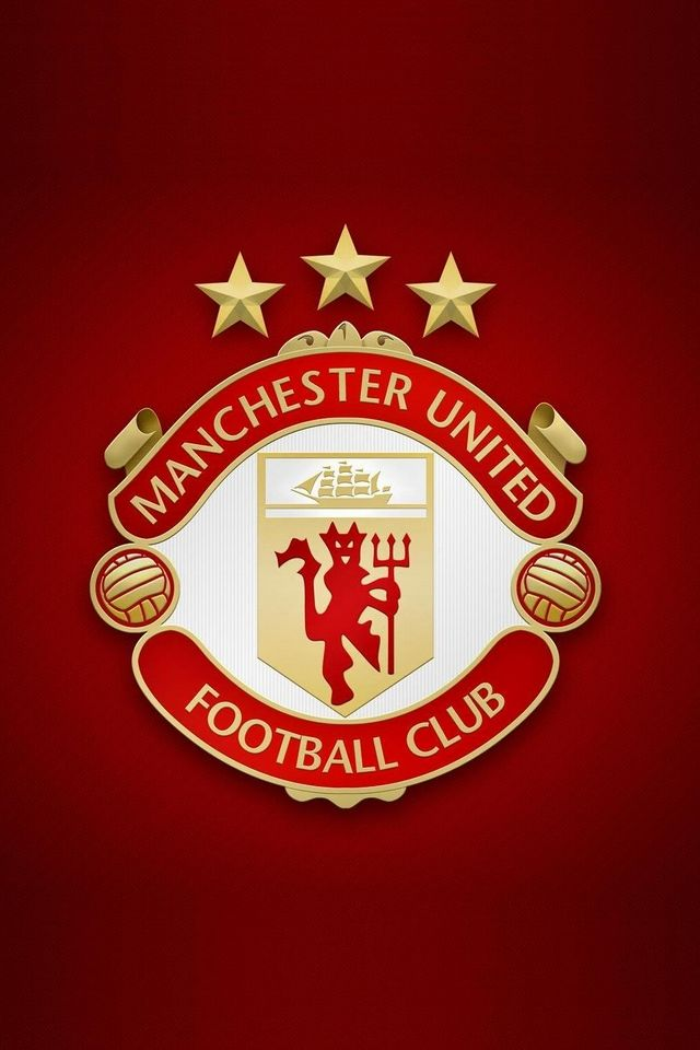 Man United Old Logo Sepak Bola Desain Logo Latar Belakang