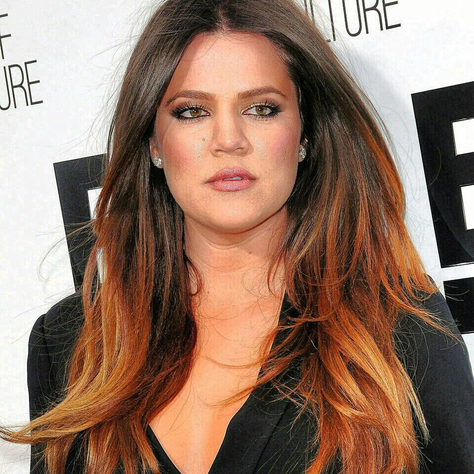 Ombre hair brunette and brunette copper gold