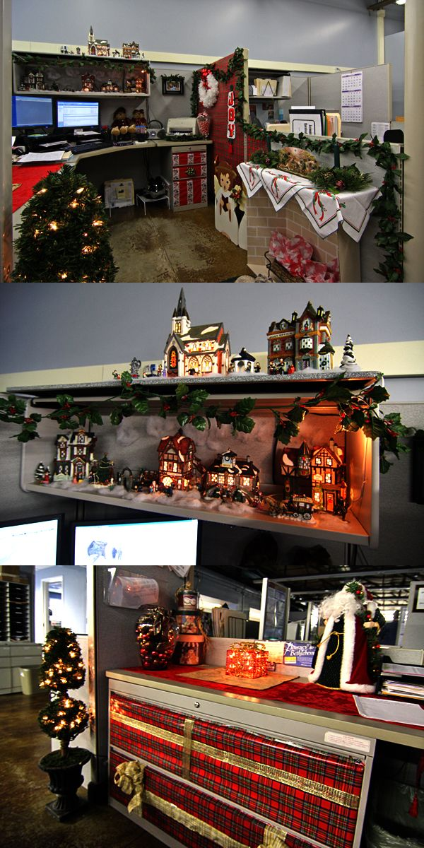 lovely office cubicle christmas decorating ideas | Decorated Cubicles for Christmas. #cubicledecorating # ...