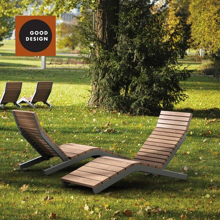 Steel And Wood Garden Daybed Outdoor Chair Rivage Outdoor Deck