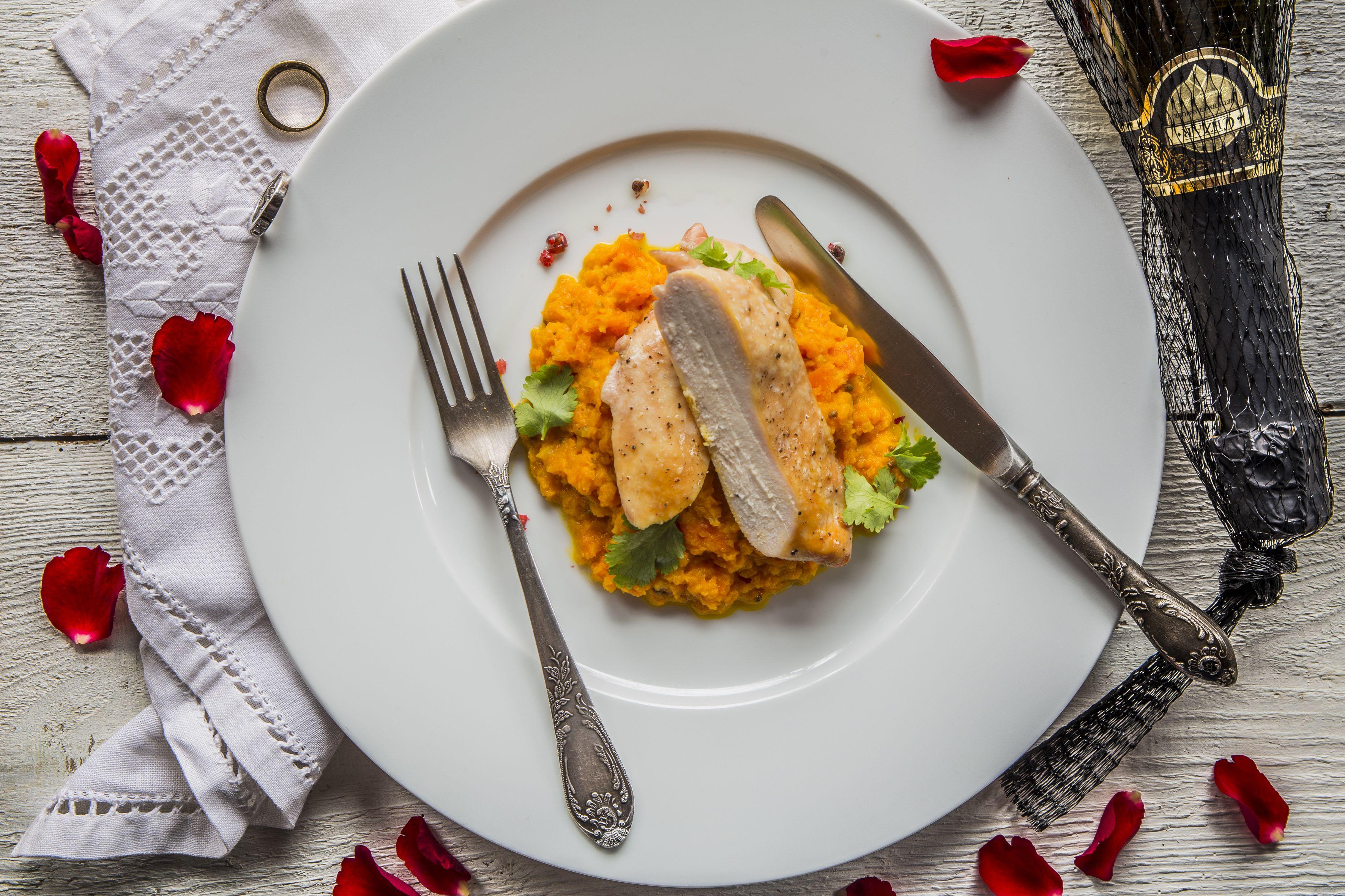 Zöldteával füstölt csirkemell - Food, Breakfast