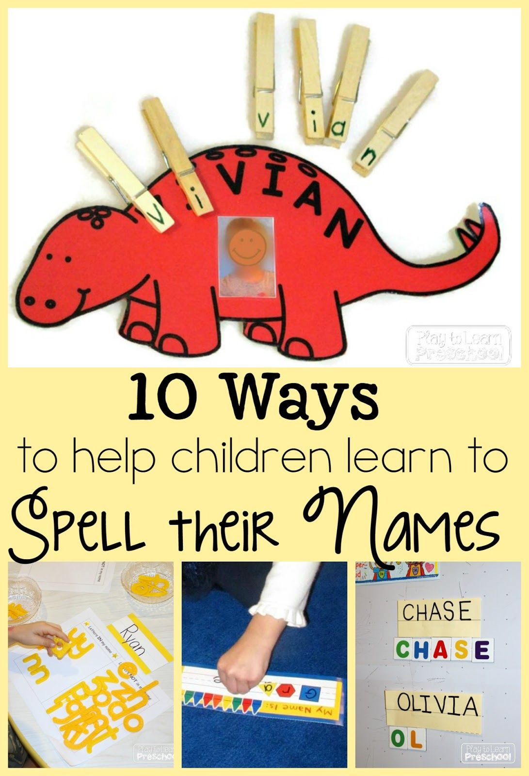 name folders play to learn preschool pre ideas