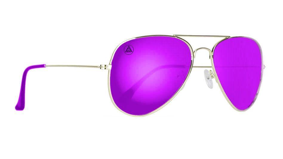9e3970d104068 Purple mirror aviator sunglasses for men and women