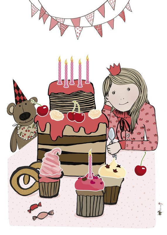 Birthday Cake Poster With Stickers My Works Pinterest Birthday