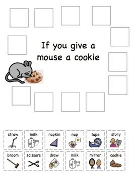 If you give a Mouse a Cookie Sequencing   Sequencing ...