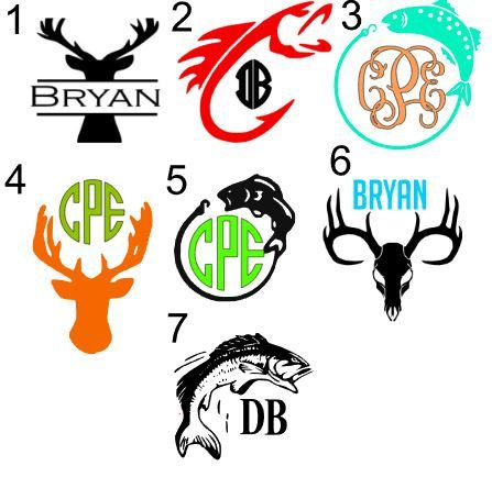 Fishing hunting country decal for yeti car by for Fishing yeti decal