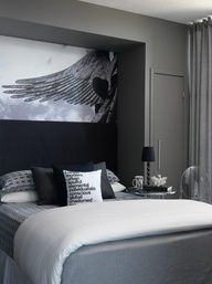 San Antonio Gray Benjamin Moore Ac 29 Contemporary Bedroom Glam Bedroom Home