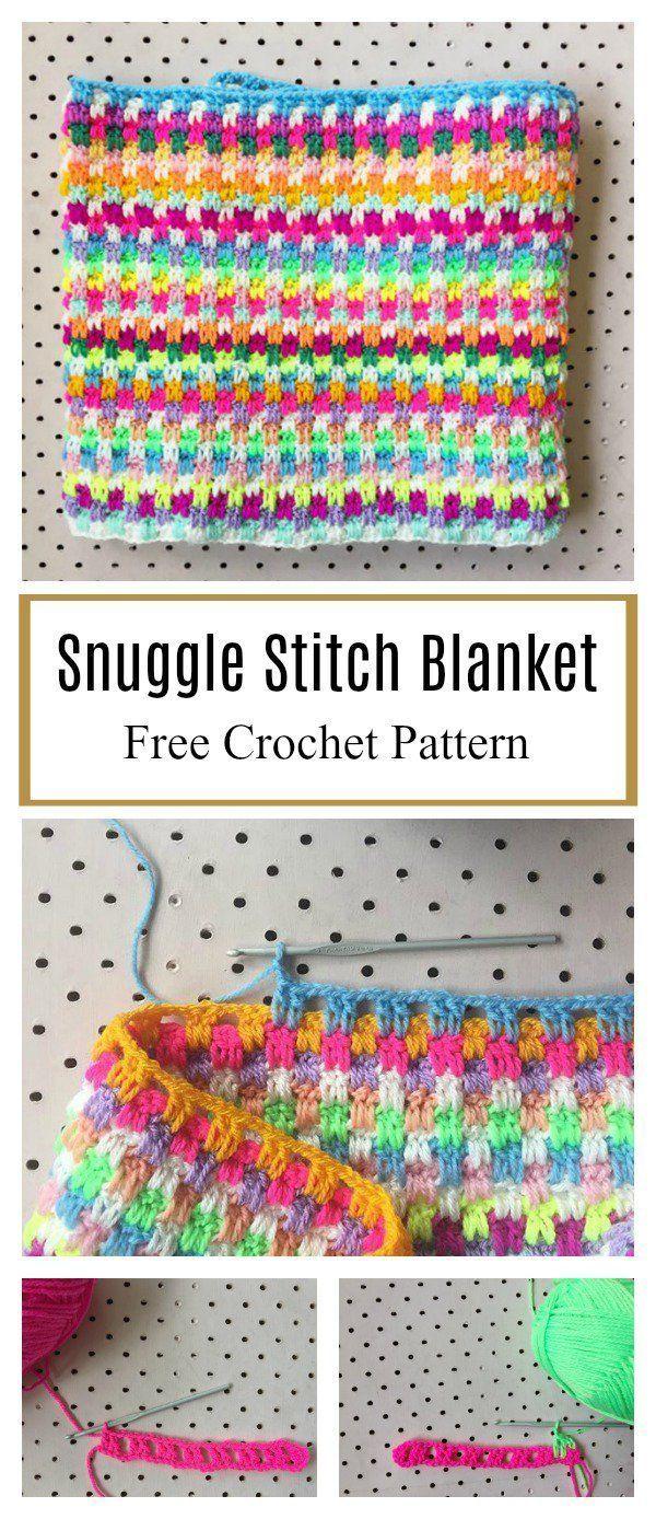 Photo of #gestreifte Häkeldecken Leaping Stripes and Blocks Blanket Free Crochet Pattern…