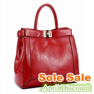 2014 Woman's Genuine Leather Handbag Fashion Shoulder Bag Woman's Leather Bag Free Shipping $83.50 now 50% off