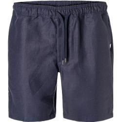 Derek Rose Herren Kurze Hose, Leinen, navy blau Derek Rose #outfitswithshorts