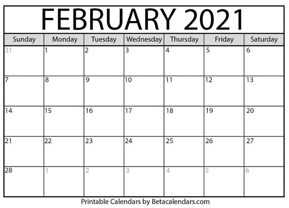 Ou Spring 2022 Calendar.February 2021 Calendar Calendar Printables February Calendar Monthly Calendar Template