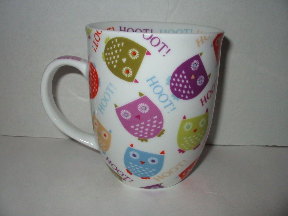 Hoot hoot owls coffee mug cup creative tops 14 oz multi
