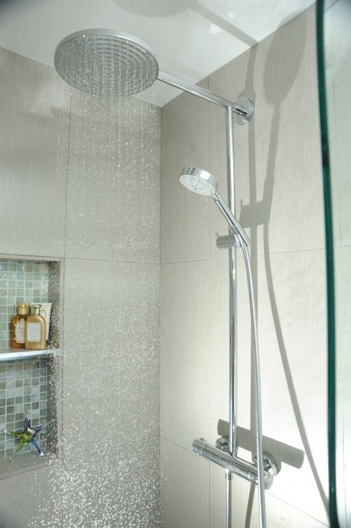 When Is Comes To A Shower Head A Dual Shower Head One Being Stationed And The Other A Wand Shower Fixtures Contemporary Bathroom Contemporary Bathroom Designs