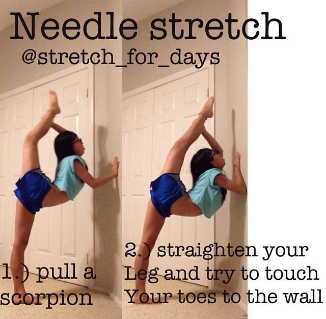 NEEDLE STRETCH THAT REALLY WORKS!! | Cheerleading ...