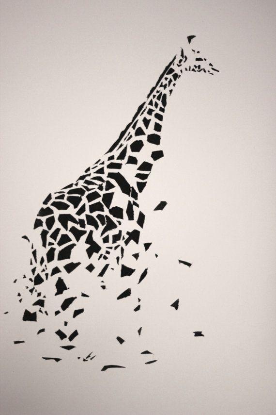 wall art giraffe stencil by messmakerartcreator on Etsy, $2000 - griffe für küche