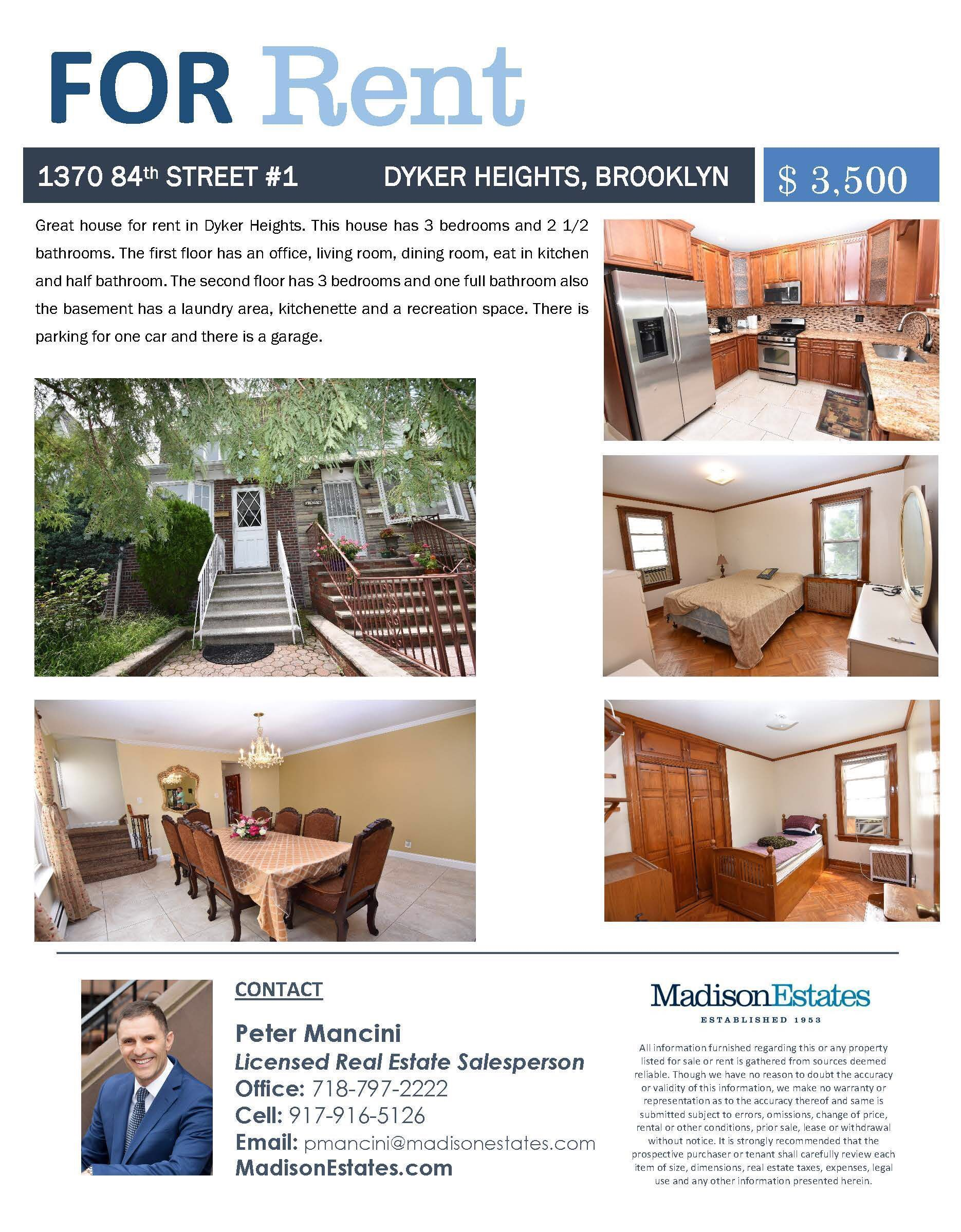Rentals In Dyker Heights Rentals Renters Forrent Brooklyn 2 Bedroom Apartment Bedroom Apartment Renting A House