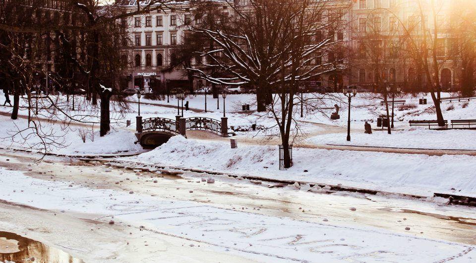 Riga (in Latvia, I think)   I want snow.