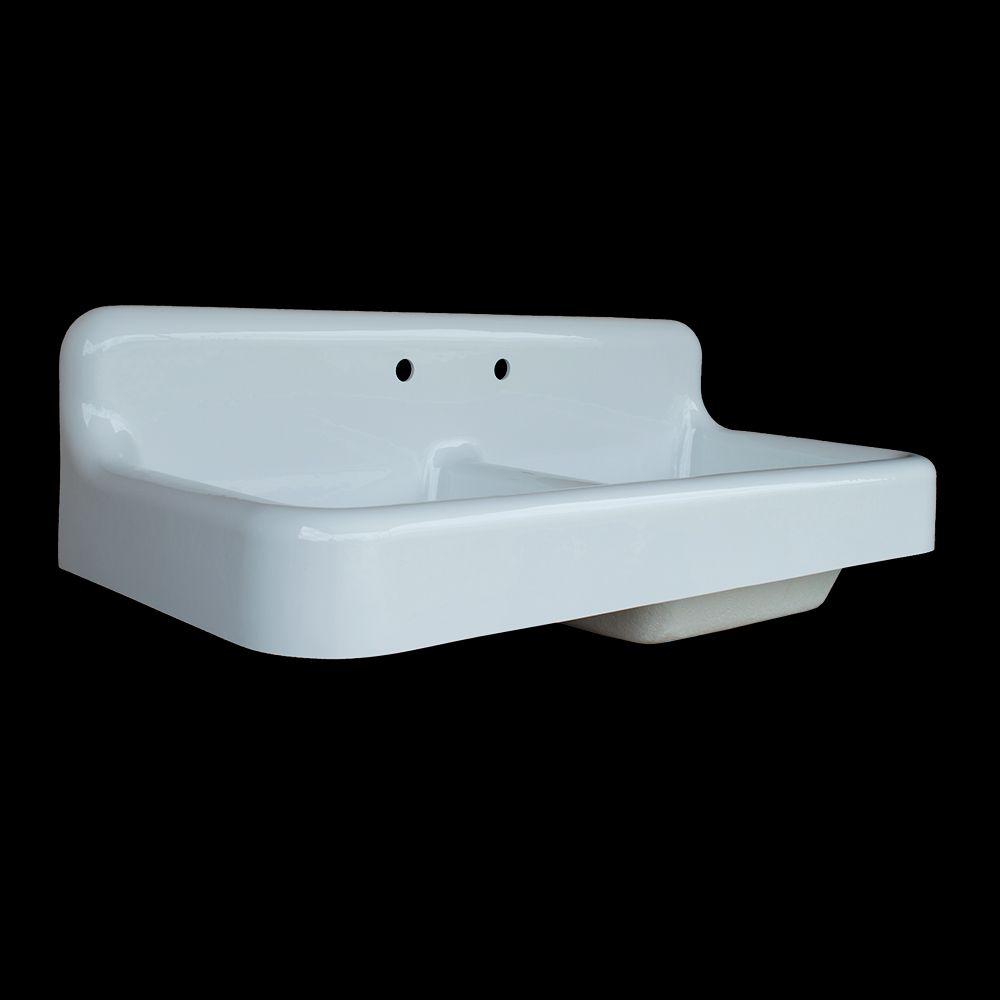 Double Basin High Back Farmhouse Style Sink Model Dbr4224 Sink Utility Sink Bath Cabinets