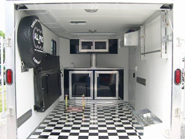 Enclosed Snowmobile Trailer Cabinets Google Search Enclosed Trailer Interiors Pinterest