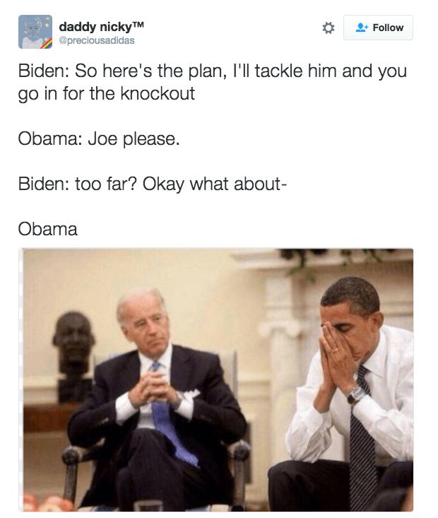 Aggressively Wears Friendship Bracelet Obama Biden Funny Joe Obama