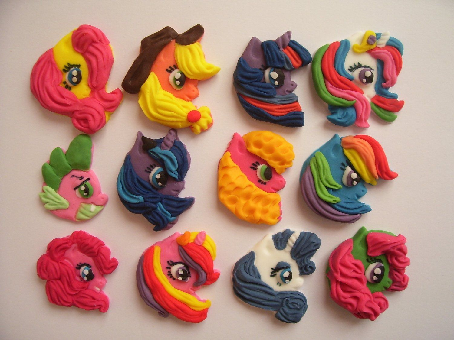 Edible sugarpaste cake decoration cupcake toppers my