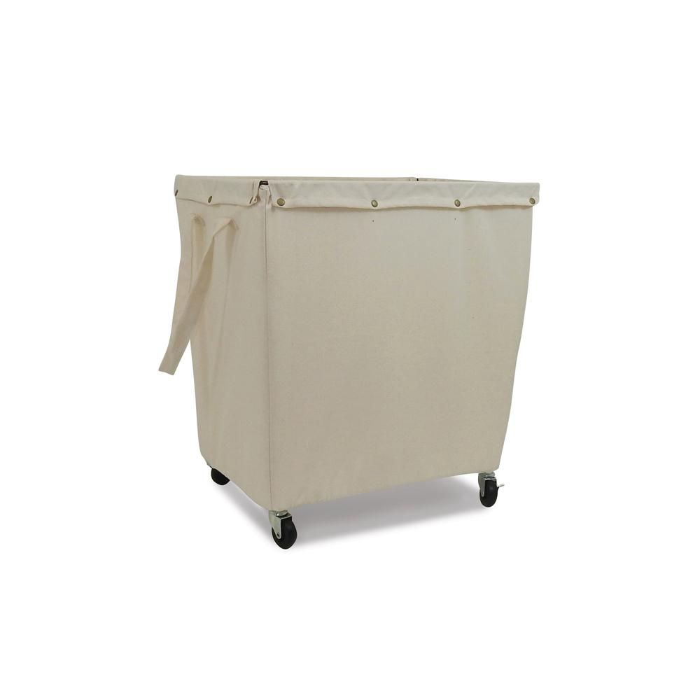 Homz Commercial Canvas Hamper With Casters 4569005ec 01 The Home Depot Canvas Laundry Hamper Canvas Hamper Laundry Hamper