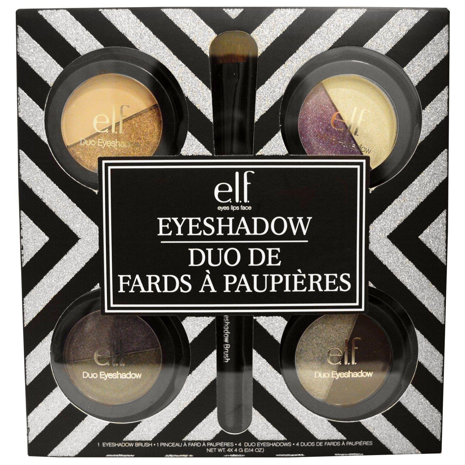 E.L.F., 4 Duo Eyeshadow Set, 0.14 oz (4 g) Each