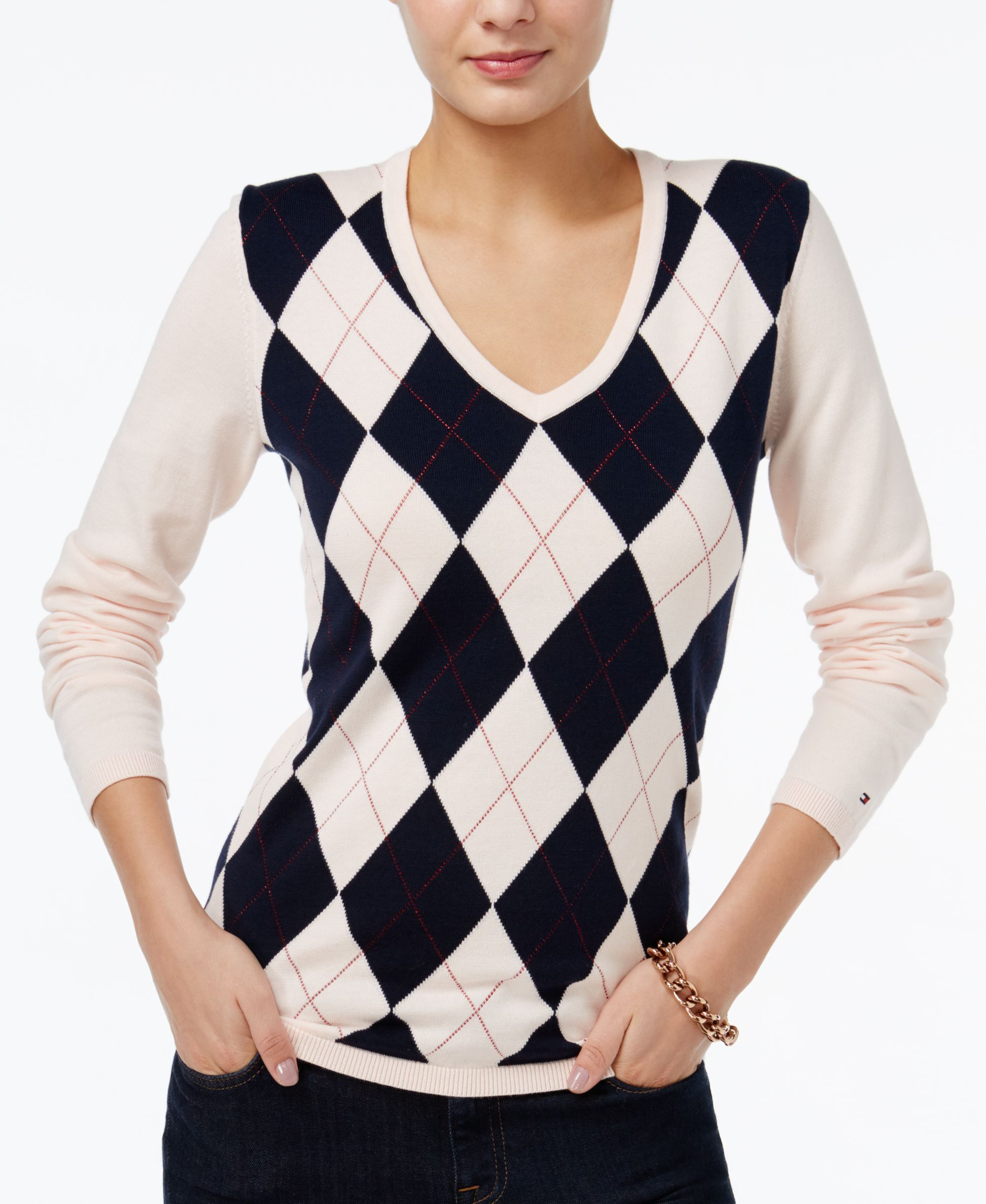 Cozy up to Tommy Hilfiger's timeless sweater. It's a classic look ...