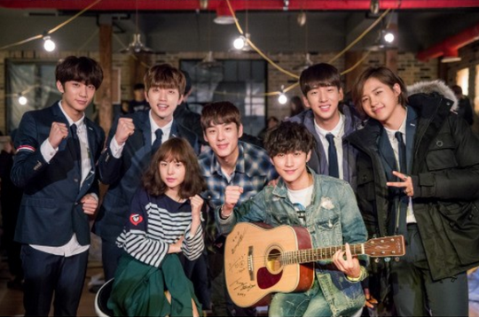 "B1A4 Visits the Set of ""Perseverance Goo Hae Ra"" to Support Jinyoung"
