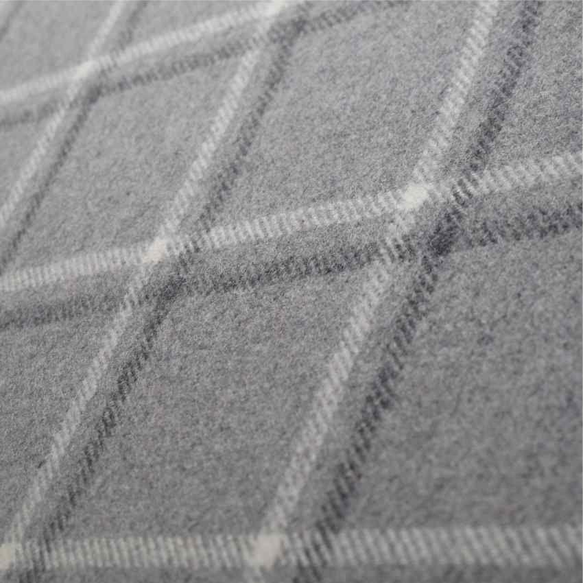 Tartan Plaid Grey Wool Curtain And Upholstery Fabric Iona Pebble