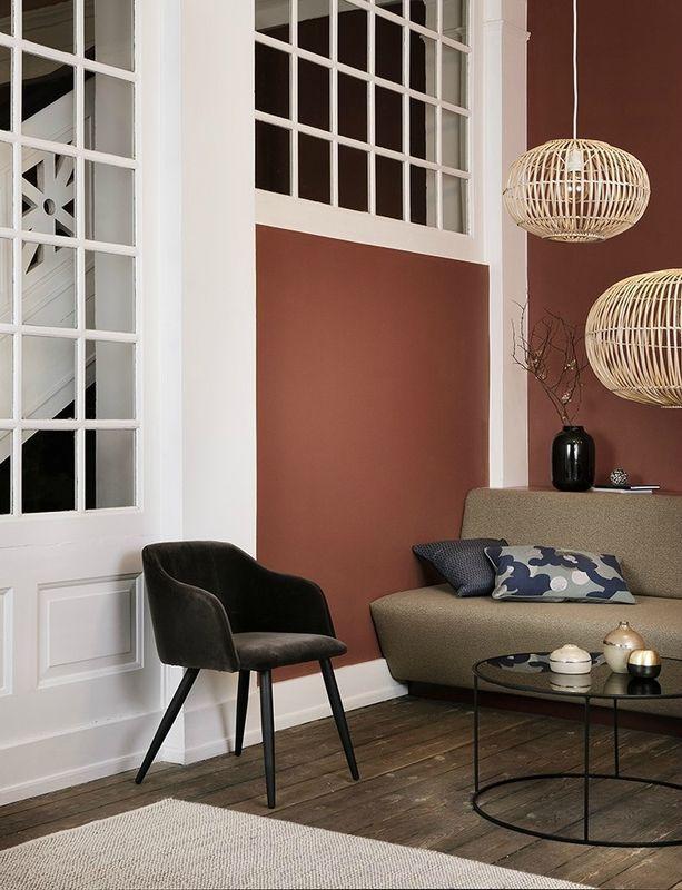 les couleurs automne hiver 2017 terracotta coin salon cosy moderne cr dit photo broste. Black Bedroom Furniture Sets. Home Design Ideas